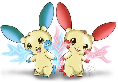 Plusle And Minun Attack Together!!! By Havocgirl On Deviantart