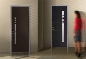 portes d39entree blindees moderne lille par euradif With porte d entrée pvc avec béton ciré mur salle de bain