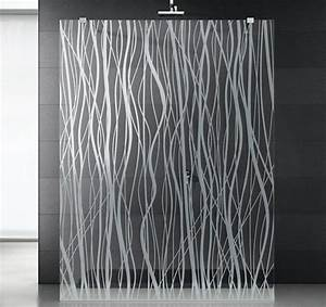 Paroi Douche Verre Sablé : paroi de douche en verre ~ Premium-room.com Idées de Décoration