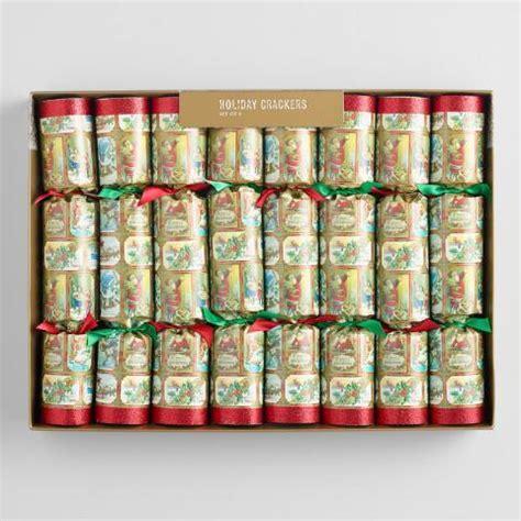 vintage christmas crackers 10 quot vintage crackers 8 count world market