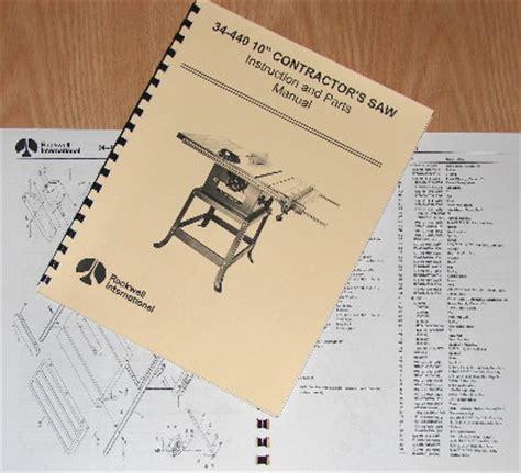 rockwell    contractors  parts manual  ebay