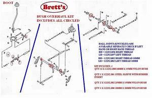 12232 390 Gear Linkage Kit Bush Set Overhaul Your Sloppy