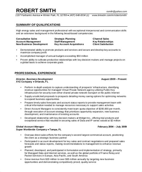 Resume Format For Experienced Professional by Professional Resume Exle 7 Sles In Pdf