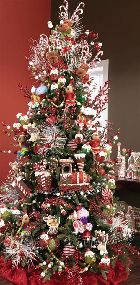 gingerbread decorated tree 24 amazing trees for you to set up this year