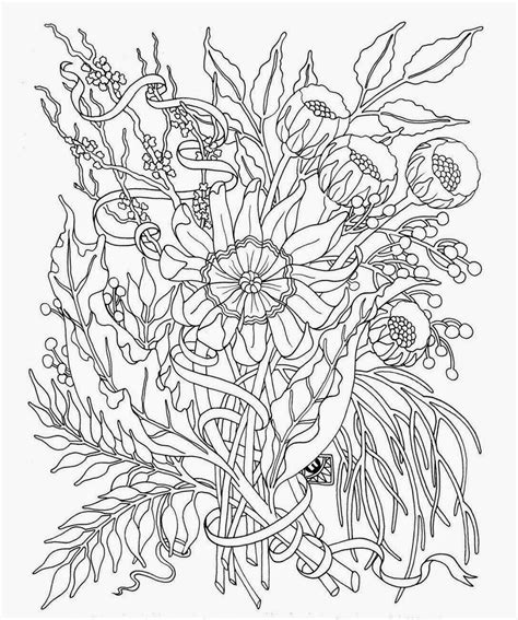 coloring pages flowers  teens