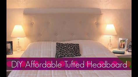 diy easy affordable tufted headboard bedroom decor