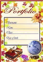 English worksheet portfolio cover