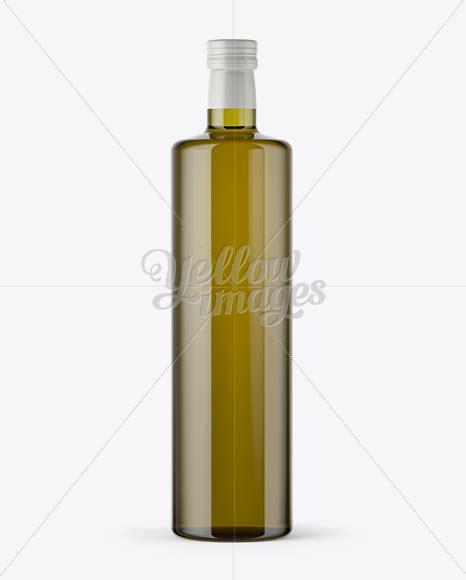 375ml green glass olive oil bottle mockup 43365 tif. 1L Antique Green Glass Bottle with Olive Oil Mockup in ...