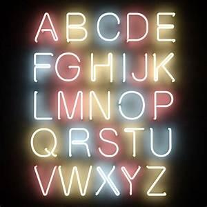 Neon tube alphabet letters max shanghai moods for Neon tube letters