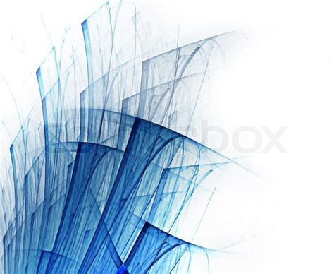 abstract background with blue lines on white paper stock