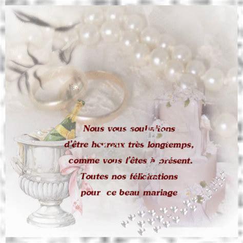 felicitation pour mariage mariage carte voeux felicitation mariage