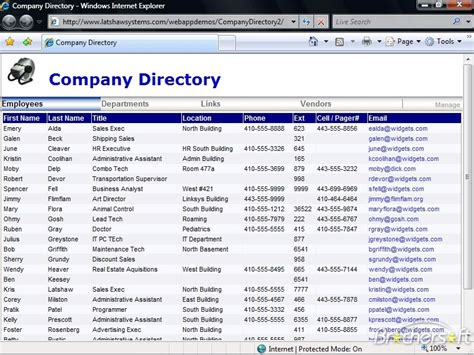 Download Free Company Directory, Company Directory 2.1