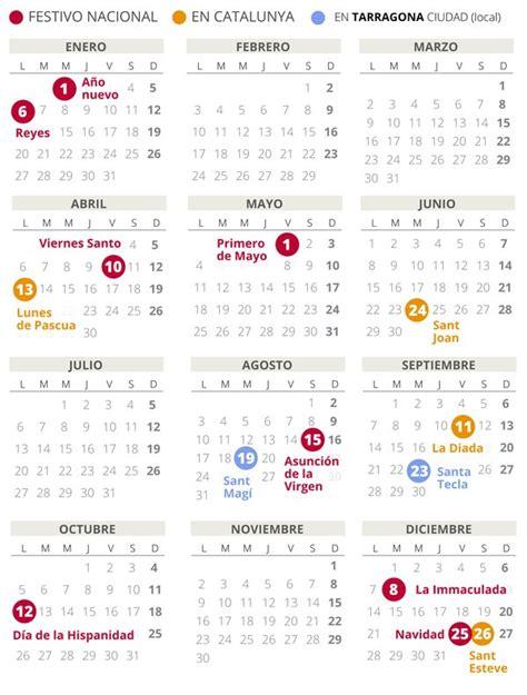 calendario laboral tarragona todos los festivos