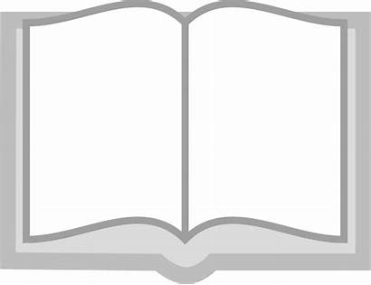 Open Clipart Clip Icon Grayscale Books Vector
