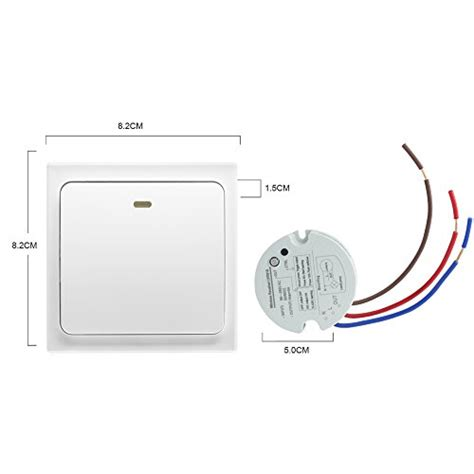 wireless light switch transmitter and receiver crelander wireless light switch no wiring no battery