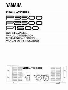 Yamaha P1500 Owner U0026 39 S Manual Pdf Download