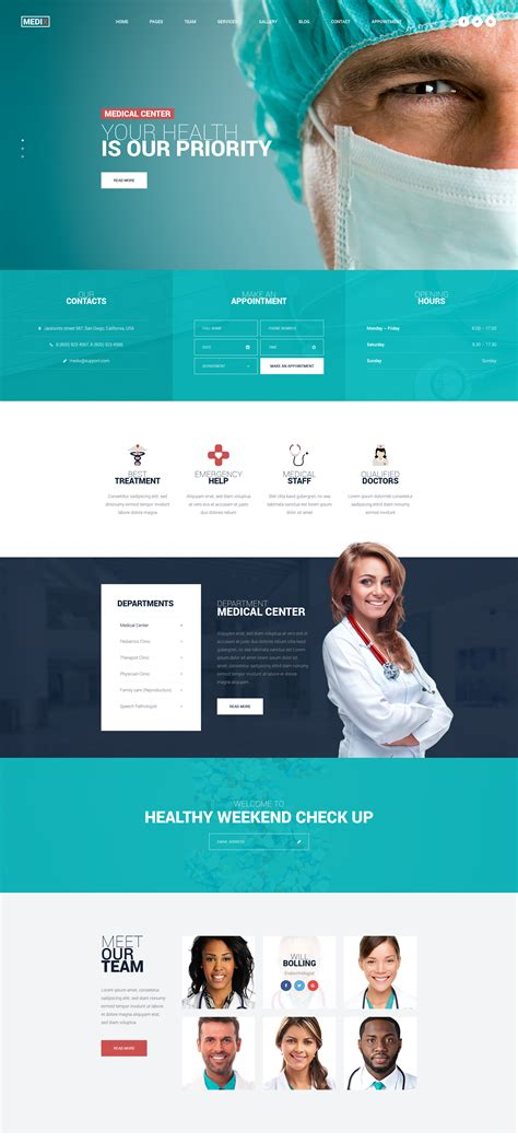 medix medical clinic html template modern web templates