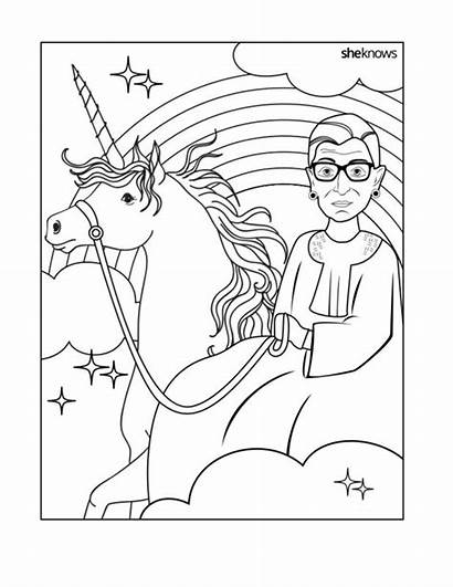 Coloring Ruth Pages Ginsburg Bader Jackie History