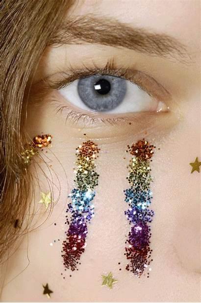 Glitter Makeup Rainbow Face Unicorn Eye Stars