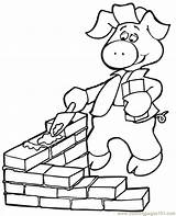 Coloring Pigs Three Pages Pig Coloringpages101 sketch template