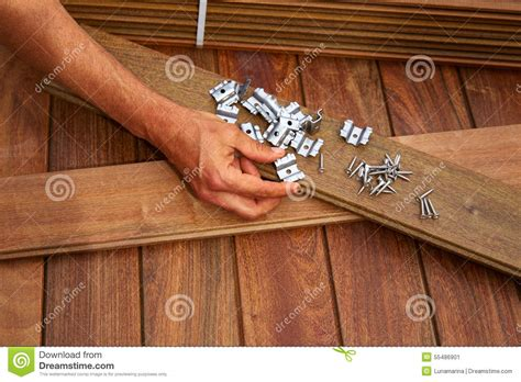 ipe deck wood installation screws clips fasteners stock