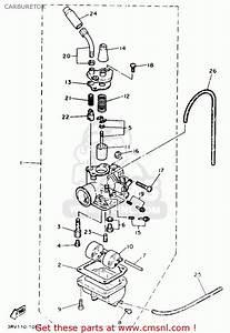Yamaha Pw80 Yzinger 1991  M  Usa Carburetor