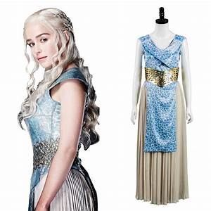 Daenerys GOT Game of Thrones Targaryen Dany Dress Cosplay ...