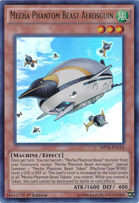mecha phantom beast deck list mecha phantom beast aerosguin yu gi oh it s time to