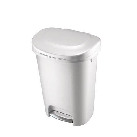 step  trash   gal rubbermaid waste garbage bin basket kitchen home white ebay