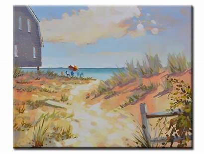 Beach Ocean Oasis Oil Dunes Painting Paintings