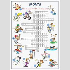 Sports Crossword Puzzle Worksheet  Free Esl Printable Worksheets Made By Teachers