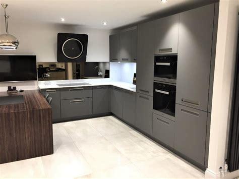 nolte kitchen integra grey matt modern quartz mm worktops