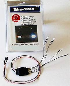 Wig-wag Head    Tail Lighting For Model Police Cars