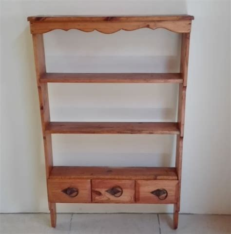 Pine Spice Rack by Shelves Oregon Pine Spice Rack Shelf With 3 Drawers Was