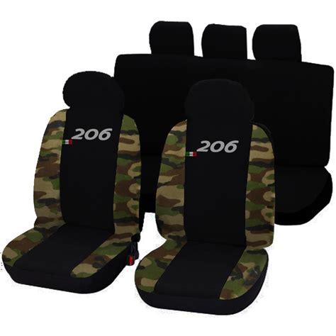 housses de siege deux colores pour peugeot 206 noir