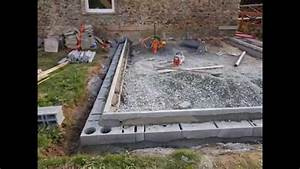 comment faire une dalle beton youtube With comment faire une dalle beton pour terrasse