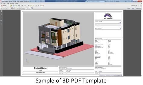 3d Home Design Tutorial Pdf by Revit Add Ons 3d Pdf Converter By 3da Systems Version 9 0