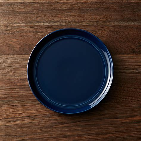 hue navy blue salad plate crate  barrel