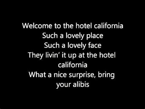 Hotel California With Lyrics +full Song Download Download Link In Description) Youtube Youtube