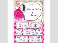 Calendário 2015 Barbie no Elo7 LaFiesta Personalizado