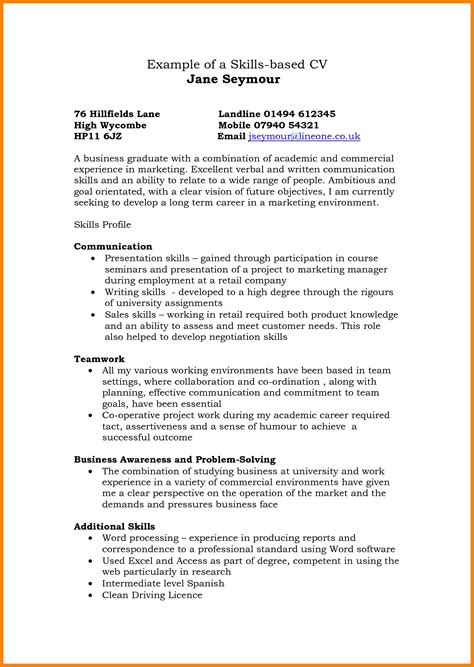Skills For Cv by Resume Writing Skills Exle Sle Phrases And Suggestions