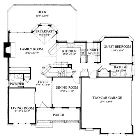 Colonial Style House Plan 4 Beds 3 5 Baths 2400 Sq/Ft