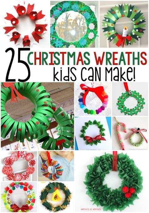 winter wreath crafts  kids