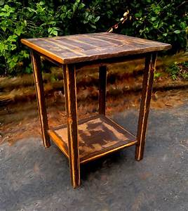 Hand, Made, Rustic, Unique, End, Table, By, One, Of, A, Kind, Design, And, Art, Furniture