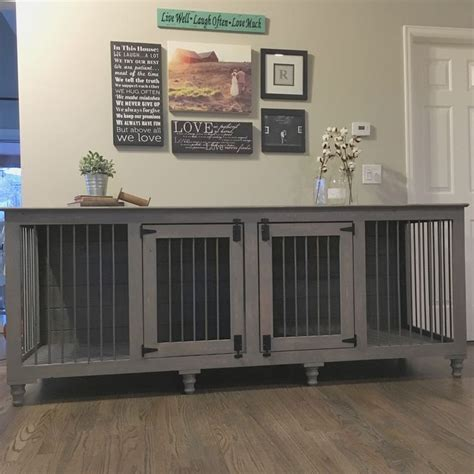 grey xl double diy dog crate wooden dog crate dog