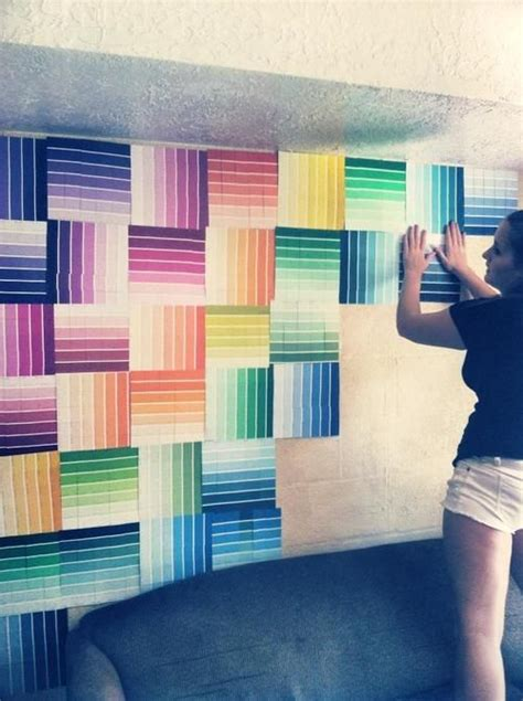 12 fun and colorful diy paint swatch projects paint chip