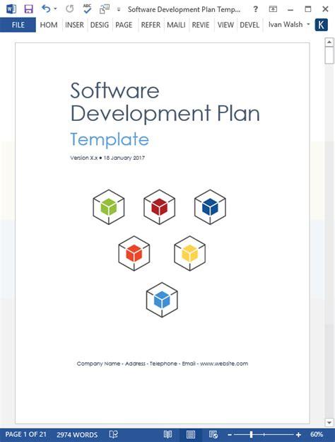 software development plan template ms word templates