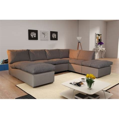 raviver couleur canap tissu modern sofa canapé d 39 angle modulable avanti taupe