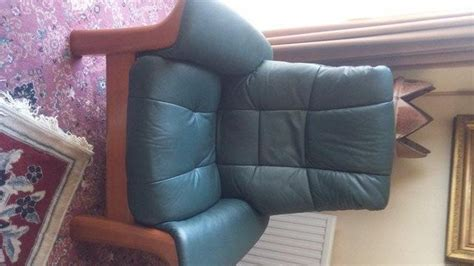 green leather recliner chair for sale in uk view 80 ads