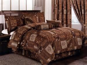 7 pc microfiber wild animal feline big cats skin patchwork comforter set queen ebay